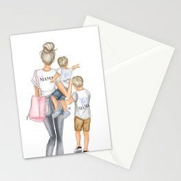 I got it from my mama 2 boys blondes Stationery Cards