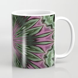 Rose and Jade Floral Fantasy Mandala Pattern Coffee Mug
