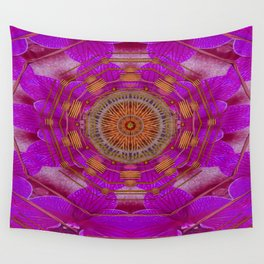 Keep Calm in Orchids and strawberrys Wall Tapestry