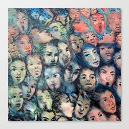 face, face, face Canvas Print