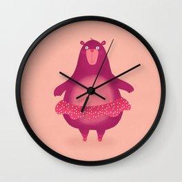 Dancing Bear Wall Clock