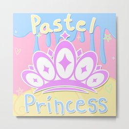 Pastel Princess Metal Print