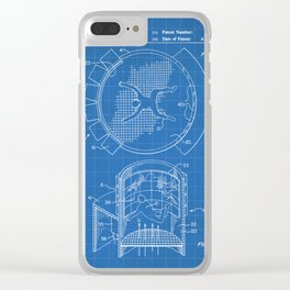 Skydiving Wind Tunnel Patent - Sky Diving Art - Blueprint Clear iPhone Case