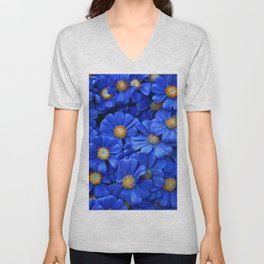 Blue Daisies Unisex V-Neck