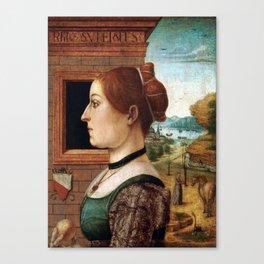 Maestro delle Storie del Pane Portrait of a Woman Canvas Print