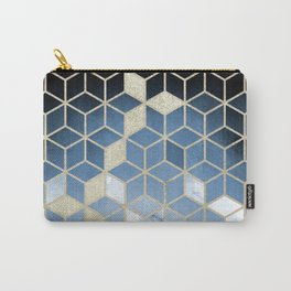 Shades Of Blue Cubes Pattern Carry-All Pouch