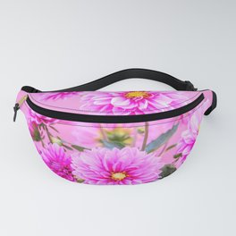 Pink Flowers on Pink Background - Floral Photogrphy with Vibrant Colors Fanny Pack