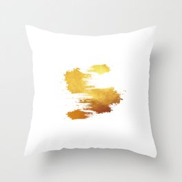 Simply Gold #7 Throw Pillow