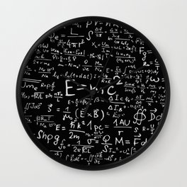 Math Formulas Wall Clock