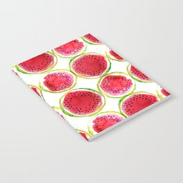 Watercolor watermelon fruit illustration Notebook