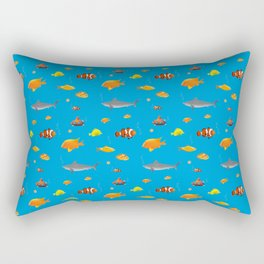 Cute and funny handdrawn fish pattern Rectangular Pillow