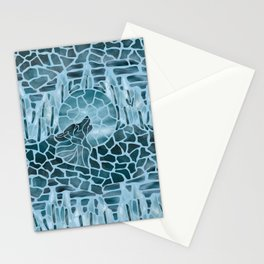 Moonlight Story (Light Blue) Stationery Cards