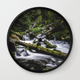 Oregon Waterfall Wall Clock