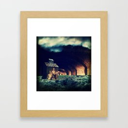 And all my dreams are underground. Framed Art Print