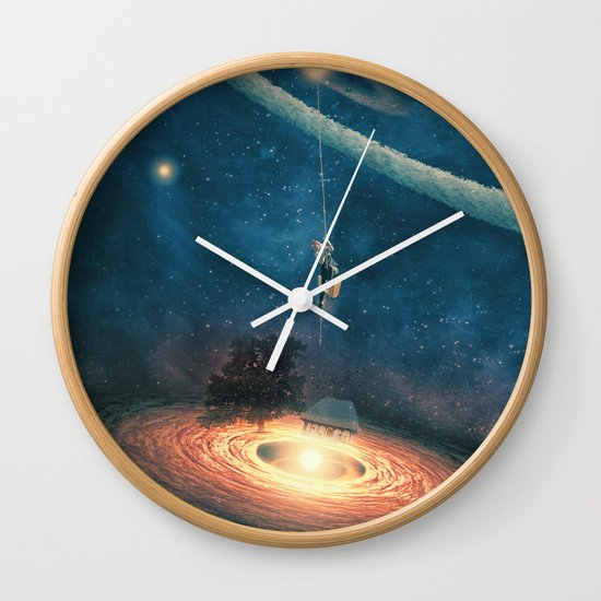 My dream house is in another galaxy Wall Clock