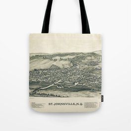 Aerial View of St. Johnsville, New York (1890) Tote Bag