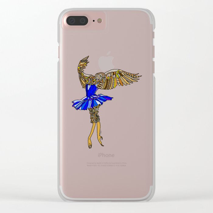 Owl Ballerina Tutu Clear iPhone Case