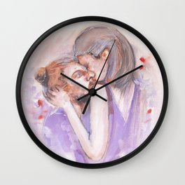 Kiss everyday like is the last one. Wall Clock