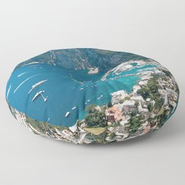 Italy, Capri Landscape View Floor Pillow