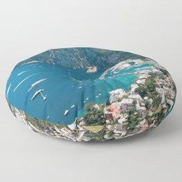 Italy, Capri Landscape View Floor Pillow