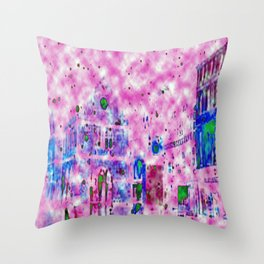 Shrewsbury up in the Clouds  Throw Pillow