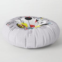 Music inspired by Joan Miro#illustration Floor Pillow