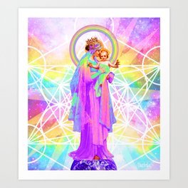 Our Lady of Sacred Geometry Kunstdrucke