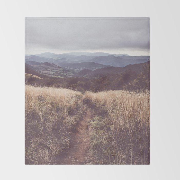 Bieszczady Mountains - Landscape and Nature Photography Throw Blanket