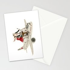 Cat and Wolf hit the road Stationery Cards