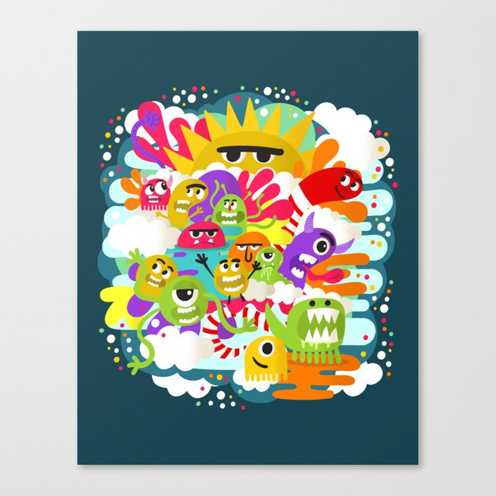 Monster Sunshine Friends Canvas Print