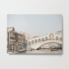 Rialto Bridge in the Grand Canal | Rialto Bridge by day, Venice, Italy famous bridge travel print Metal Print