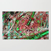 los angeles Area & Throw Rugs featuring los angeles by donphil
