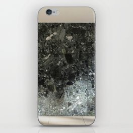 Barcelona's German Pavilion Alps Green Marble Wall by Mies van der Rohe iPhone Skin