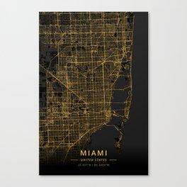 Miami, United States - Gold Canvas Print