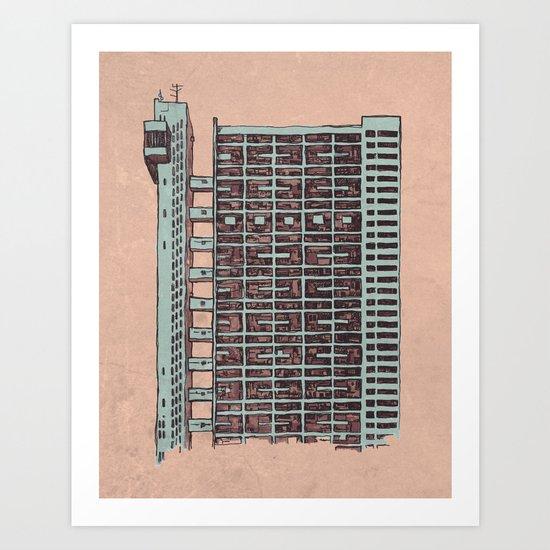 Brutalist Architecture Trellick Tower  Art Print