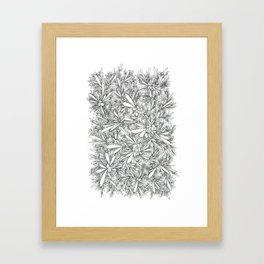Black Growth Framed Art Print