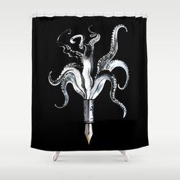 Fountain Octo Pen Shower Curtain