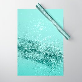 Summer Vibes Glitter #7 #mint #shiny #decor #art #society6 Wrapping Paper