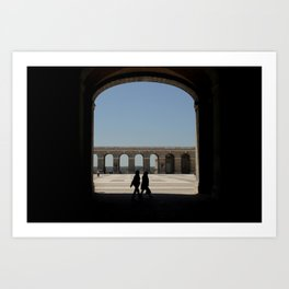 Shadows on Palacio Real - Madrid Art Print