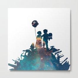Han-Leia Nebula Banksy Stencil Style Metal Print