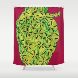 Floral Heart Shower Curtain