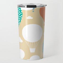 Hot air balloon neutral Travel Mug