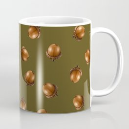 Acorn Pattern-Olive Coffee Mug