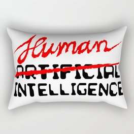 Human Intelligence Rectangular Pillow