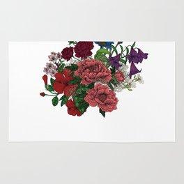 "Flower Arrangement Fall in Love Series "" Let it be"" Rug"