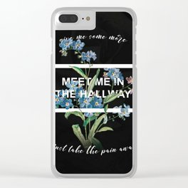 Harry Styles Meet Me In The Hallway Artwork Clear iPhone Case