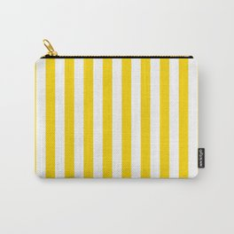 Vertical Stripes (Gold/White) Carry-All Pouch