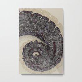 octopus print poster Metal Print