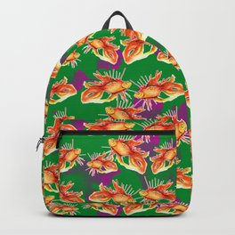 goldfish on a green background Backpack