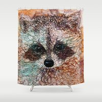 kit king Shower Curtains featuring Kit by Col Mitchell Paper Artist